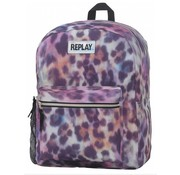 Replay Girls rugzak middel - leopard pink