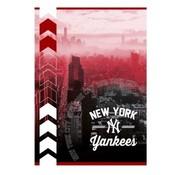 New York Yankees A4 ruitjes schrift - roodbruin
