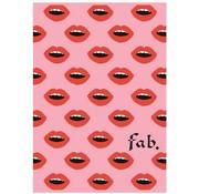FAB A4 ruitjes schrift - lippen