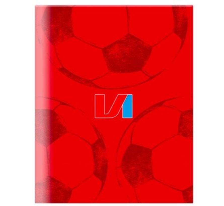 A4 schrift geruit - rood