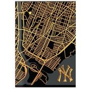 New York Yankees Carat A4 ruitjes schrift