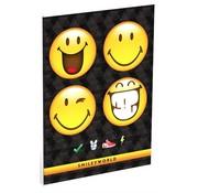 Smileyworld A4 ruitjes schrift - 4 smiley's
