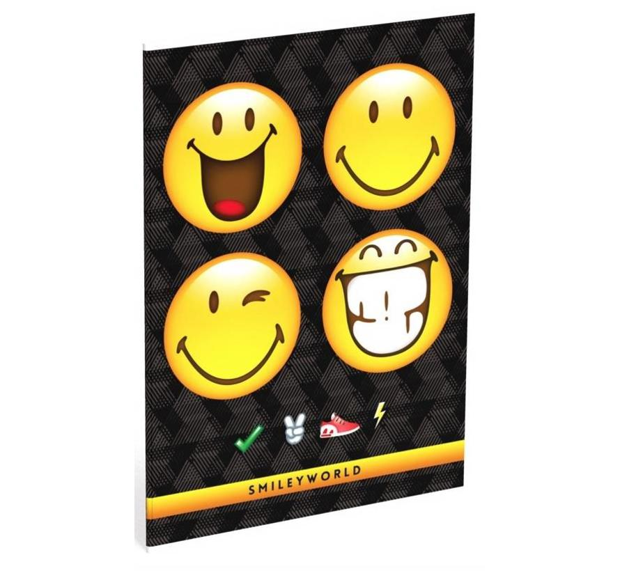 A4 schrift ruit  - 4 smiley's