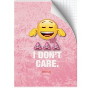 Emoji Girls A4 ruitjes schrift - i don't care