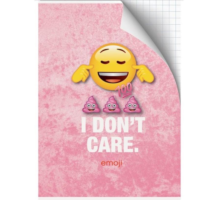A4 schrift geruit girls - I don't care