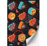 Emoji Boy's A4 ruitjes schrift - 100
