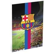 Barcelona A4 ruitjes schrift Camp Nou