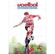Voetbal international A4 lijntjes schrift - wit