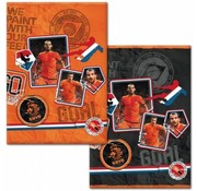 KNVB A4 ruitjes schrift - oranje
