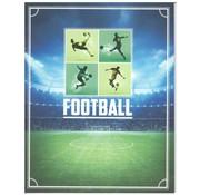 Football A4 ruitjes schrift  - spelers