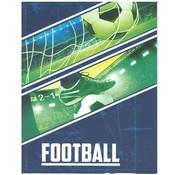 Football A4 ruitjes schrift  - schoen