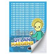 Dylan Haegens A4 lijntjes schrift team - schoolbord