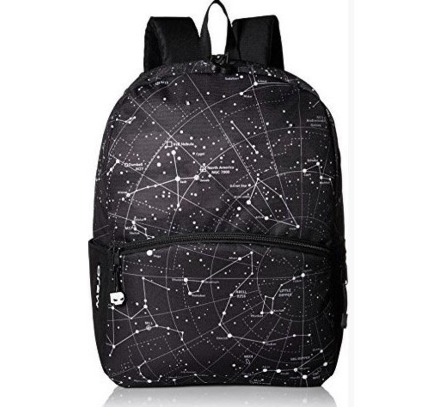 Rugtas zwart  Star Chart With Lights