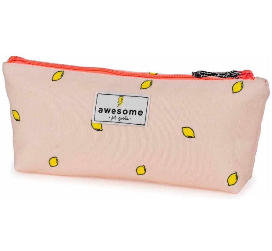 Girls make-up bag / etui - pink