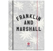 Franklin & Marshall A4 elastomap - grey