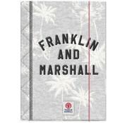 Franklin & Marshall Girls elastomap A4  - grey