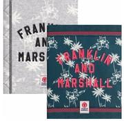 Franklin & Marshall Girls A5 lijntjes schriften - groen/blauw