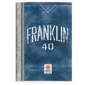 Franklin & Marshall A4 ruitjes schrift blauw/grijs