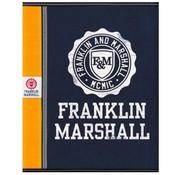 Franklin & Marshall Boy's A5 lijntjes schrift - blue/orange