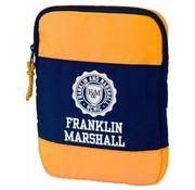 Franklin & Marshall Ipad cover / tablet sleeve - blue/orange