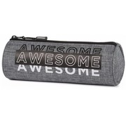Awesome Boy's etui rond - grijs