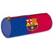 Barcelona Schooletui rond - blau/grana