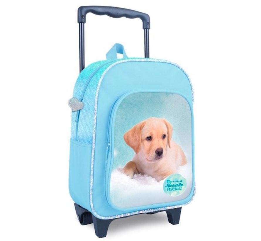 Trolley / rugtas hond - blauw