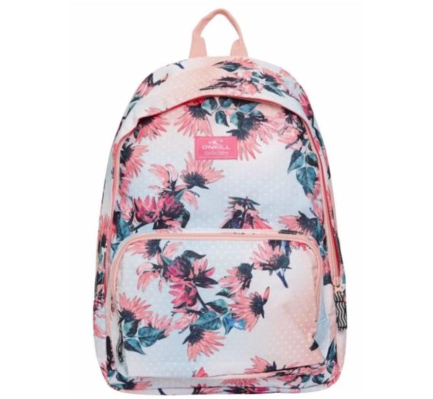 Girls rugtas compact - roze flowers