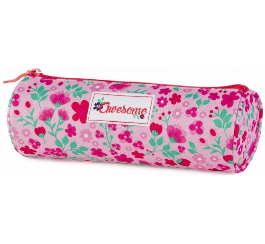 Cute pink schooletui - rond
