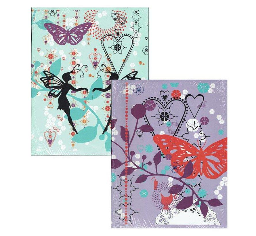 A5 lijntjes schriften - Butterfly girls
