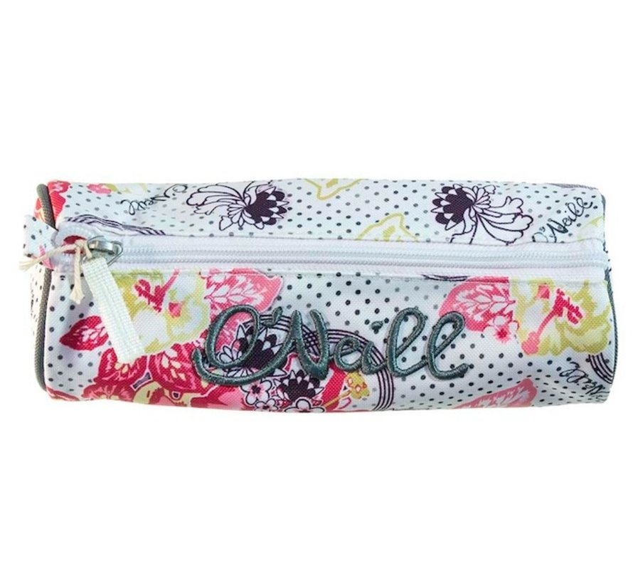 Girls etui - rond wit
