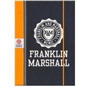 Franklin & Marshall Boy's elastomap A4 - blauw/oranje