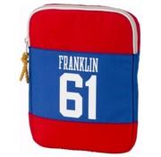 Franklin & Marshall Ipad cover/tablet sleeve - rood/zwart