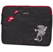 Supertrash Tablet sleeve black - tiger
