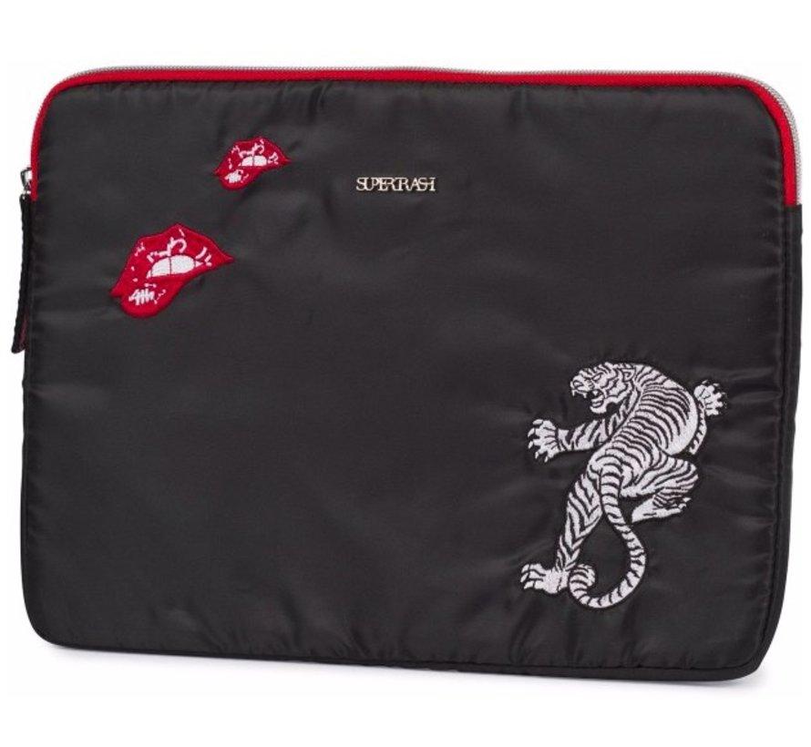 Tablet sleeve black - tiger