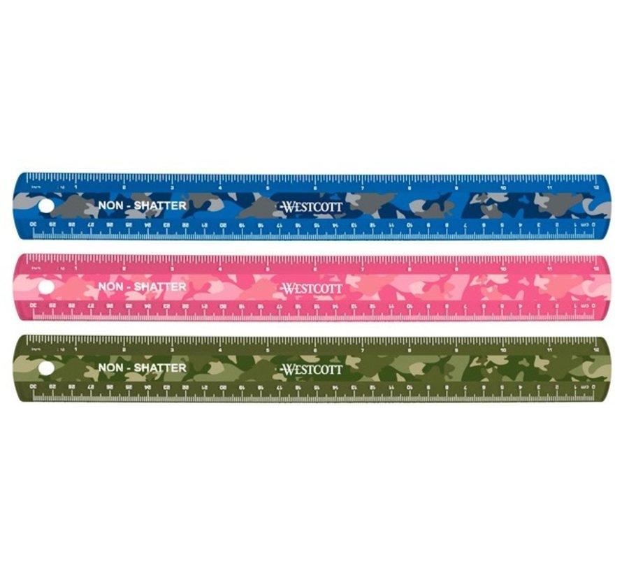 Camo liniaal 30cm gekleurd