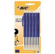 Bic M10 balpennen 10 x blauw