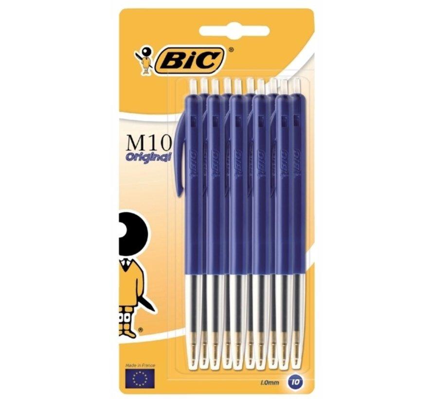 Bic M10 balpennen set - blauw 10x
