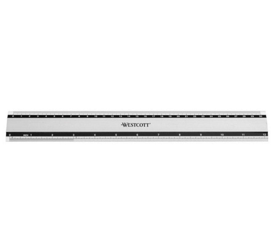 Liniaal aluminium - 30cm