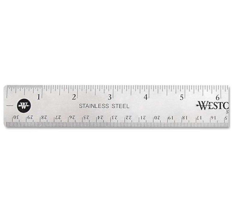 Liniaal RVS - 30cm
