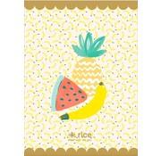 Rice A4 lijntjes schrift - Fruit