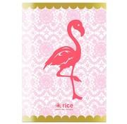 Rice A4 ruitjes schrift - flamingo