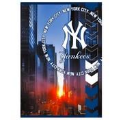 New York Yankees MLB City A4 lijntjes schrift - blauw