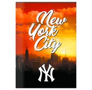 New York Yankees MLB City A4 lijntjes schrift - oranje