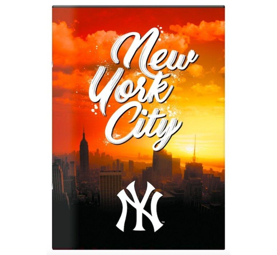 MLB City A4 lijntjes schrift - oranje