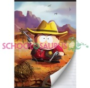 South Park A4 lijntjes schrift - cowboy