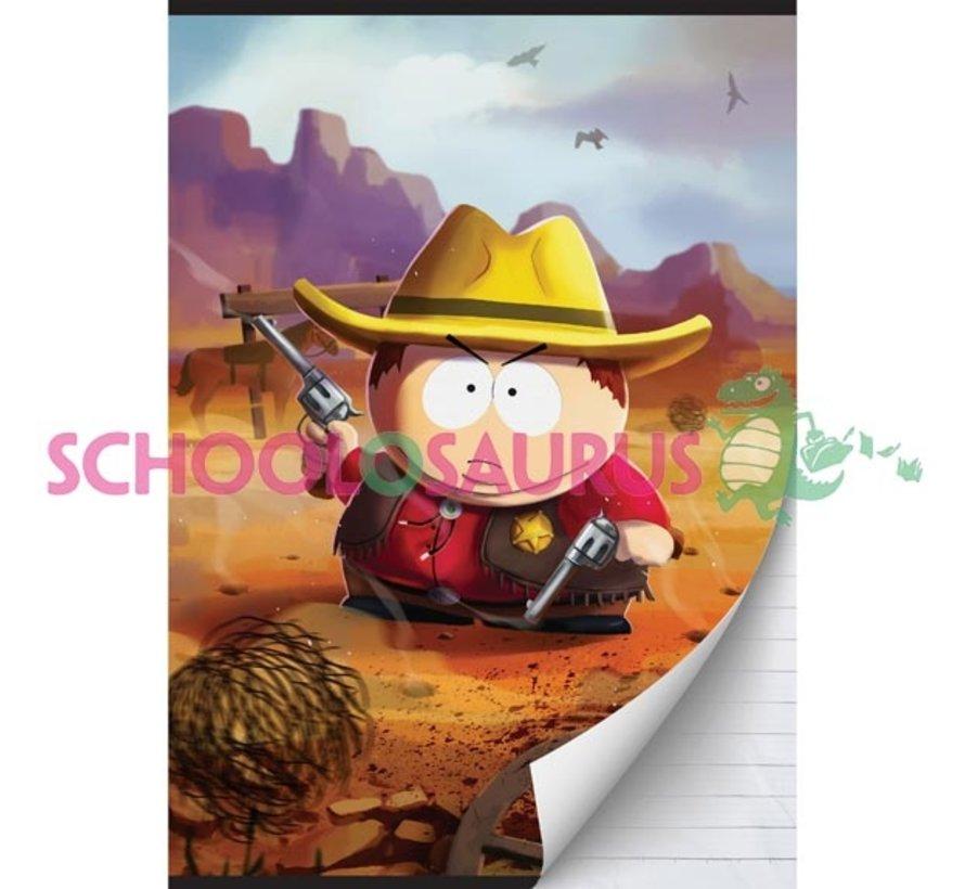 A4 schrift gelinieerd - cowboy