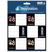 Play Station Etiketten - zwart