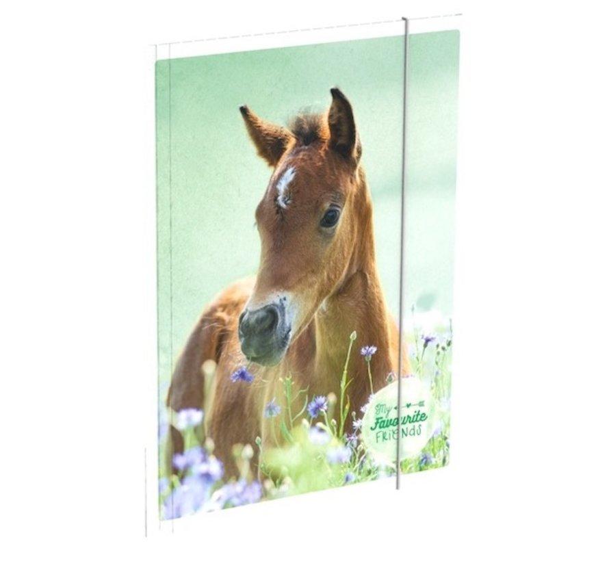 Paarden Elastomap A4  - groen