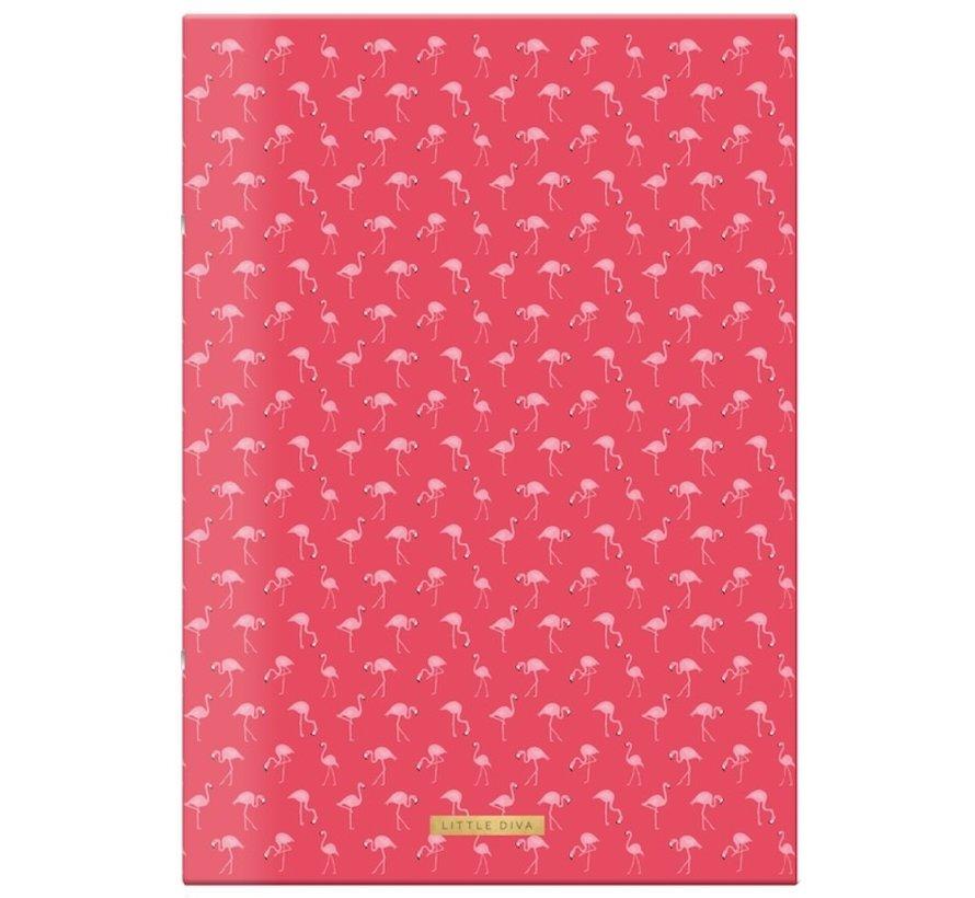 A4 schrift gelinieerd  - Flamingo